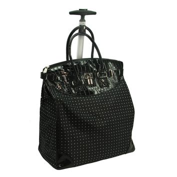 Rollies Classic Polka Dot Rolling 14-inch Laptop Travel Tote Bag | Overstock.com Shopping - The Best Deals on Travel Tote Bags