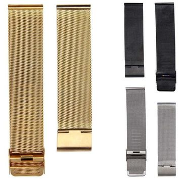 VONC1Y NEW Arrival Watch Band 18/20/22/24mm Stainless Steel Watch Mesh Bands Strap For Wristwatch Double Clasp Bracelet Gold