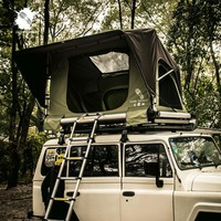 New Design Self-driving Travelling/Camping Car Truck Hydraulic Rod Double Layer Roof Top Tent