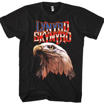 Lynyrd Skynyrd Americana Men's Eagle T-Shirt, Black (X-Large)