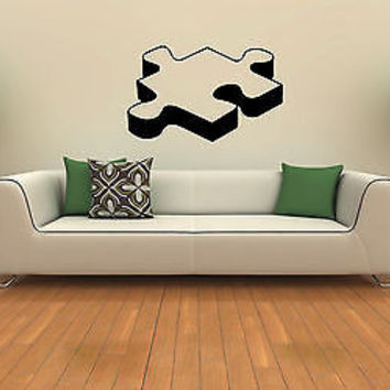 PIECE OF PUZZLE CUTE WALL VINYL STICKER  DECALS ART MURAL HOME ROOM DECOR T435