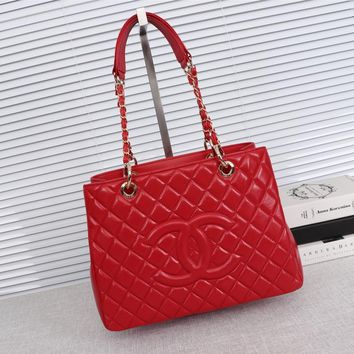 DCCK 1335 Cchannel Classic G S T Large capacity handbag red