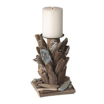 2 Driftwood Candle Holders - Each Holds One Pillar Candle