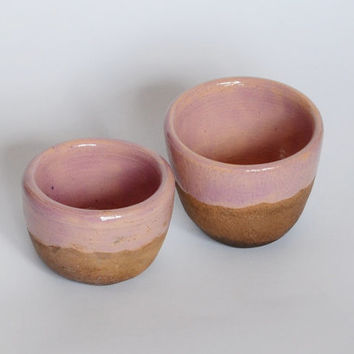 set of two small ceramic cups