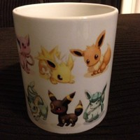 Pokemon Eevee Evolved Characters Mug Cup White Coffee Tea Cup