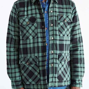 Dark Seas Anchorage Insulated Flannel Shirt Jacket- Green
