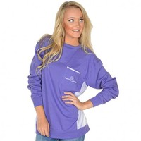 Prepcheck Sweatshirt in Violet with Lavender Gingham by Lauren James