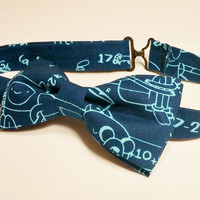 Adventure Time Bow Tie • Finn Jake Bow Tie • Pre-Tied Bow Tie • Navy Blue Bow Tie • Geekery Mens Fashion • Cartoon Bowtie • Gifts For Guys
