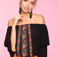 High Impact Embroidered Top