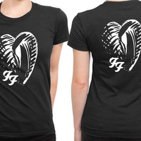 DCCK7H3 Foo Fighter One By One Japan Logo 2 Sided Womens T Shirt