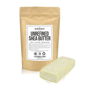 Unrefined Shea Butter by Better Shea Butter - African, Raw, Pure - Use Alone or in DIY Body Butters, Lotions, Soap, Eczema & Stretch Marks Products, Lotion Bars, Lip Balms and More! - Mini Size: 8 oz