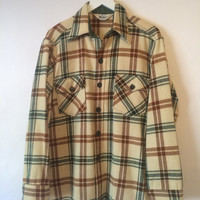 70's Vintage WOOLRICH Flannel Size Large