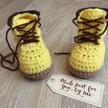 Crochet Baby Boy Woodsmen Boot - Baby Shower Gift
