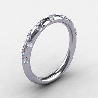 French Bridal Platinum Diamond Wedding Band R185B-PLATD