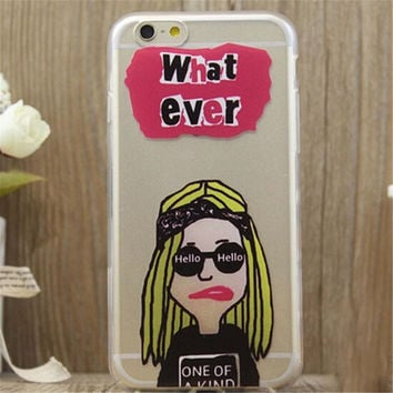 What ever Print iPhone 5/5S/6/6S/6 Plus/6S Plus Case Gift Very Light Case-17