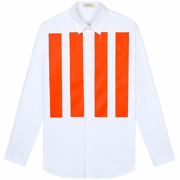 Parallel Orange Slim Fit Button Up Shirt
