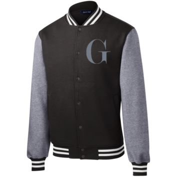Fleece Letterman Jacket