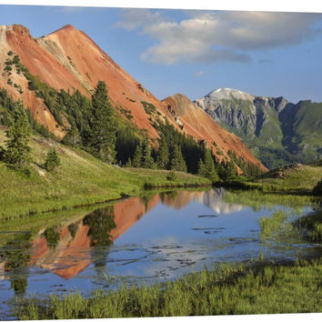 Red Mountain Gets Its Color from Iron Ore in the Rock