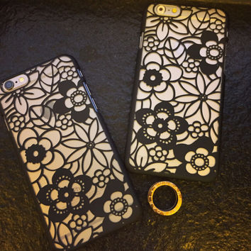 Summer Hollow Out Floral iPhone 5s 6 6s Plus Case Cover Gift