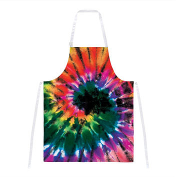 Smokey Spiral Tie Dye All Over Apron
