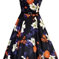 Tulip Floral Print Tea Dress
