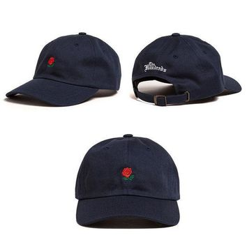 ESBONPR Navy Blue The Hundreds Rose Strap Cap Adjustable Golf Baseball Cap