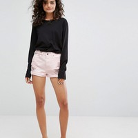 Dr Denim Jenn Highwaisted Short with Rips at asos.com
