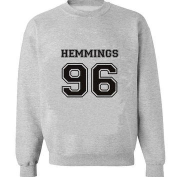 hemmings 96 sweater Gray Sweatshirt Crewneck Men or Women for Unisex Size with variant colour
