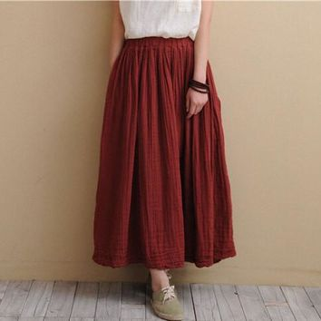 Asyabuykal Linen Long Skirts