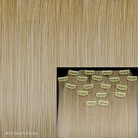 """FACILLA® 8 18"""" #613 Bleach Blonde Straight Full Head Clip In Synthetic Hair Extensions"""