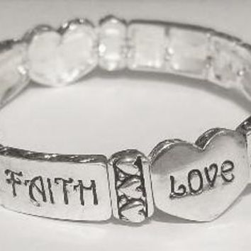 Faith Love Hope Stretch Bracelet