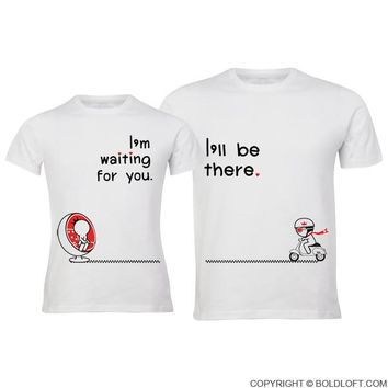 Love is on the Way™ His and Hers Shirts,Matching Couples Shirts,Boyfriend Girlfriend Shirts,Long Distance Relationship