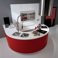 Lacquered fitted kitchen with peninsula TIMO PLUS by Biefbi | design Paolo Passerini