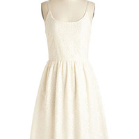 ModCloth Long Spaghetti Straps A-line Seeing Eye to Eyelet Dress