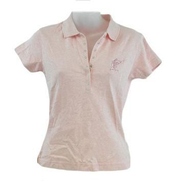 MLB Florida Miami Marlin Licensed Womens Ladies Polo Collar Shirt Pink Small SML
