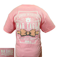 Auburn Tigers War Eagle Class Prep Southern Bow Pink Bright T Shirt