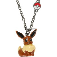 "Licensed cool Pokemon GO EEVEE Poke Ball charm full body pendant 18"" chain necklace Nintendo"