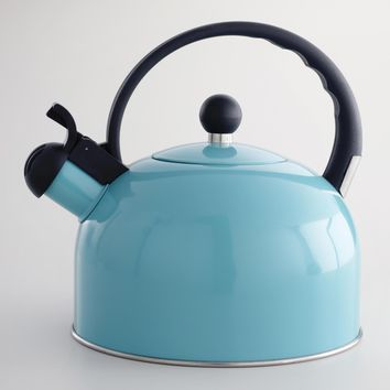 Aqua Enamel Tea Kettle   World Market