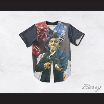 Tony Montana Scarface 20 Poker Room Baseball Jersey