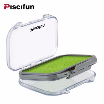 Fly Box Fly Fishing Bait Tackle Box Waterproof Silt Foam High Quality Plastic Portable