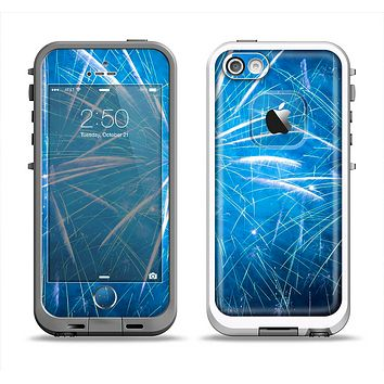 The Blue Fireworks Apple iPhone 5-5s LifeProof Fre Case Skin Set
