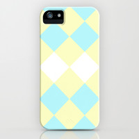 Checkers Yellow/Blue iPhone & iPod Case by Dena Brender Photography