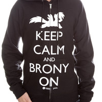 My Little Pony Keep Calm And Brony On Zip Hoodie