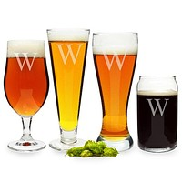 Personalized Specialty Beer Glasses (Set of 4)