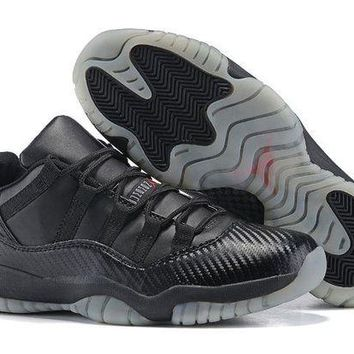 DCCKL8A Jacklish Cheap Air Jordan 11 Retro Low Black Snake Custom For Sale