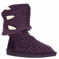 Bearpaw Knit Tall Mid-Calf Boot - Deep Purple