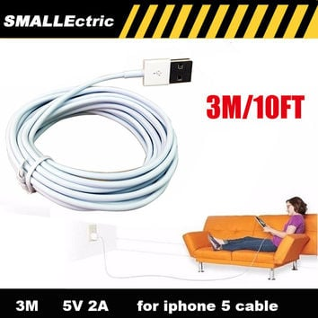 3M/10FT IOS 9 Charge USB Cable 3 Meters Long 3m charger for iPhone 6 6 plus cable for iPhone 5 5S 5C iPad air,mobile phone cable