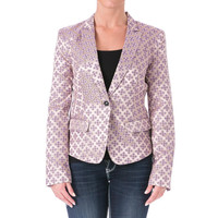 Elizabeth and James Womens Abigail Tile Jacquard Blazer