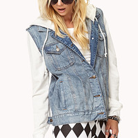 Must-Have Hooded Denim Jacket