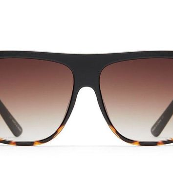Quay Drama By Day Black Tortoise / Brown Fade Sunglasses